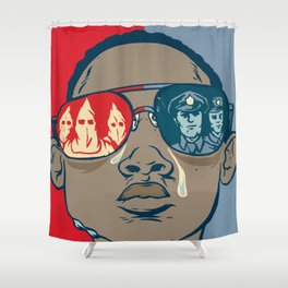 Dreaming While Black Shower Curtain