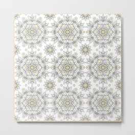 Openwork pattern on a white background. Metal Print