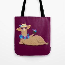 Bahama Llama Tote Bag