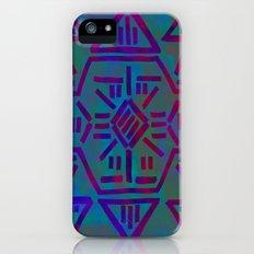 Moonrise - Turquoise iPhone (5, 5s) Slim Case
