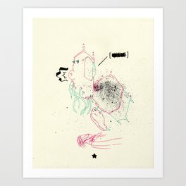 First words that come to mind Art Print