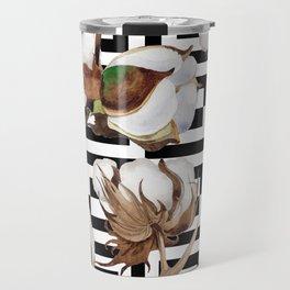 Cotton Flower Pattern 09 Travel Mug