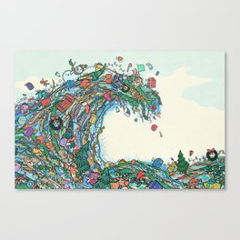 Christmas Tidal Wave Canvas Print