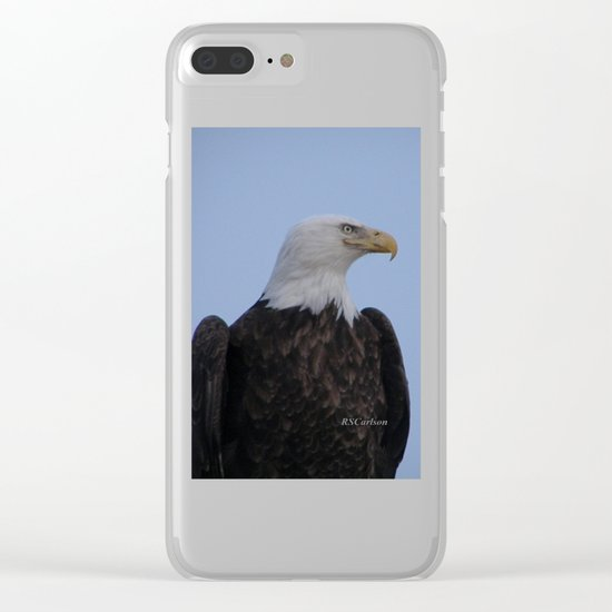 Bald Eagle on Watch along the Kenai River Clear iPhone Case