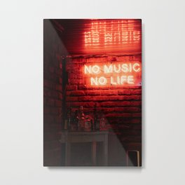 No Music No Life Metal Print