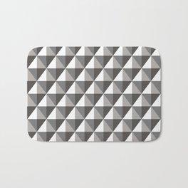 Black & Gray 3D Geometric Diamonds Bath Mat