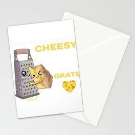 This Might Sound Cheesy But I Think You're Really Grate, Cute Food Pun, Romantic Gift, Couples Tee Stationery Cards