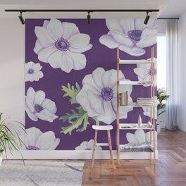 Anemones Purple #society6 #buyart Wall Mural