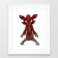 fnaf Framed Art Prints featuring FNAF Foxy by Draikinator