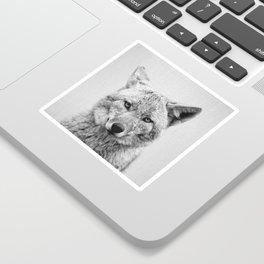 Coyote - Black & White Sticker