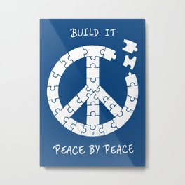Peace By Peace Metal Print