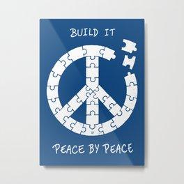 Peace By Peace Metal Print