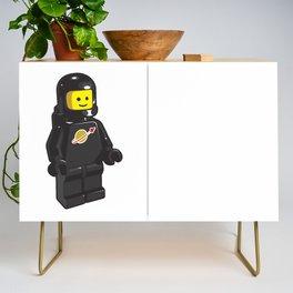 Vintage Black Spaceman Minifig Credenza