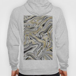 Gray Black White Gold Marble #1 #decor #art #society6 Hoody
