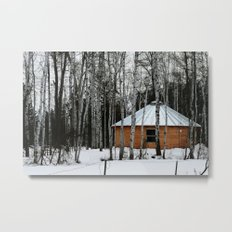 Yurt in the Birch Metal Print
