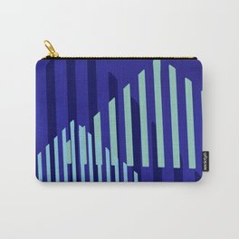 Abstract Blue Peaks Minimalism Carry-All Pouch