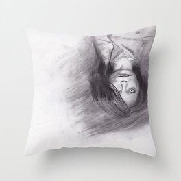口裂け pls Throw Pillow