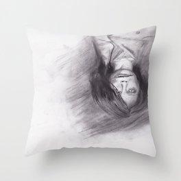 口裂け pls Throw Pillow