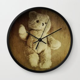 Old Teddy Bear Wall Clock