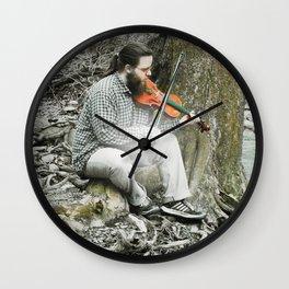 Fiddler on the Creek Wall Clock