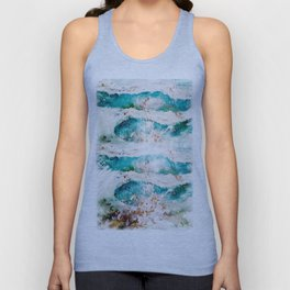 Abstract Waves Splatter Unisex Tank Top
