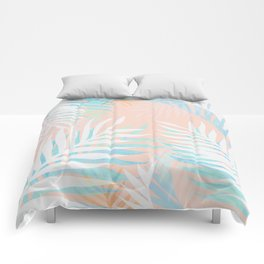 Tropical bliss - palm springs Comforters