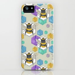 Fuzzy Butt Bees and Hexes iPhone Case