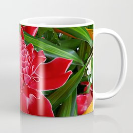Red Torch Ginger Flower Coffee Mug