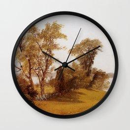 Albert Bierstadt - Sailboats on the Hudson at Irvington Wall Clock