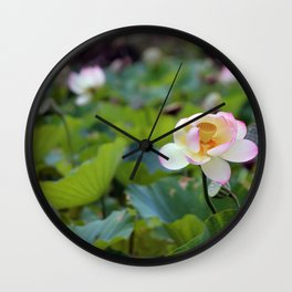 Aquatic Garden Lotus 2 Wall Clock