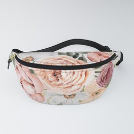 Muted Peonies and Poppies Fanny Pack
