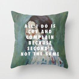 Gustav Klimt, Porträt einer Dame (1916-1917) / Halsey, Is There Somewhere (2014) Throw Pillow