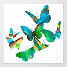 Green Butterflies Canvas Print