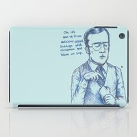 anchorman iPad Cases featuring Anchorman: One of Those Delicious Falafel Hotdogs by Red Misery