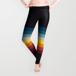 Naoaki - Classic Rainbow Retro Stripes Leggings