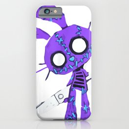Halloween outfit grown-up Scary Bunny with scissors iPhone Case