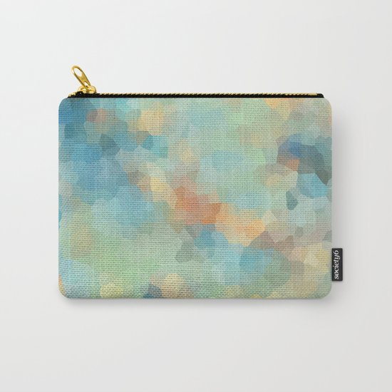 """Colored crystals . """"Sunbeams"""" . Carry-All Pouch"""