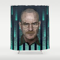 architect Shower Curtains featuring Braking Bad - The Architect - Walter White by milanova