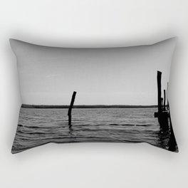 End of the Dock Rectangular Pillow