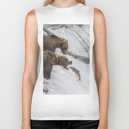 The Catch - Brown Bear vs. Salmon Biker Tank