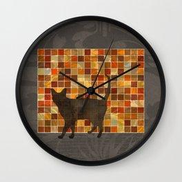 House Cat Wall Clock