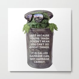 Inspirational Trash Metal Print