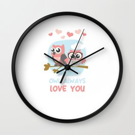 Owl Always Love You Wildlife Nocturnal Animal Night-Owl Lovers Hunters Gift Wall Clock