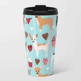 Chihuahua love hearts cupcakes valentines day gift for chiwawa lovers Travel Mug