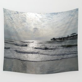 On A Stormy Winterday Wall Tapestry