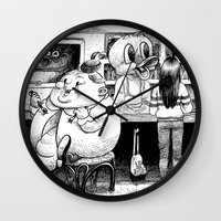 cheese Wall Clocks featuring Cheese. by Samuel Guerrero