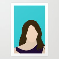 himym Art Prints featuring Robin Scherbatsky HIMYM by Rosaura Grant