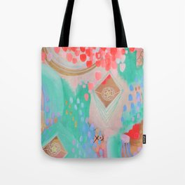 Floral Ascension Tote Bag