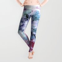 fractal Leggings featuring Fractal Whimsy by Charma Rose
