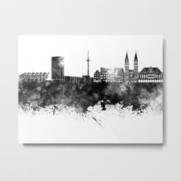 Bremen skyline in black watercolor Metal Print